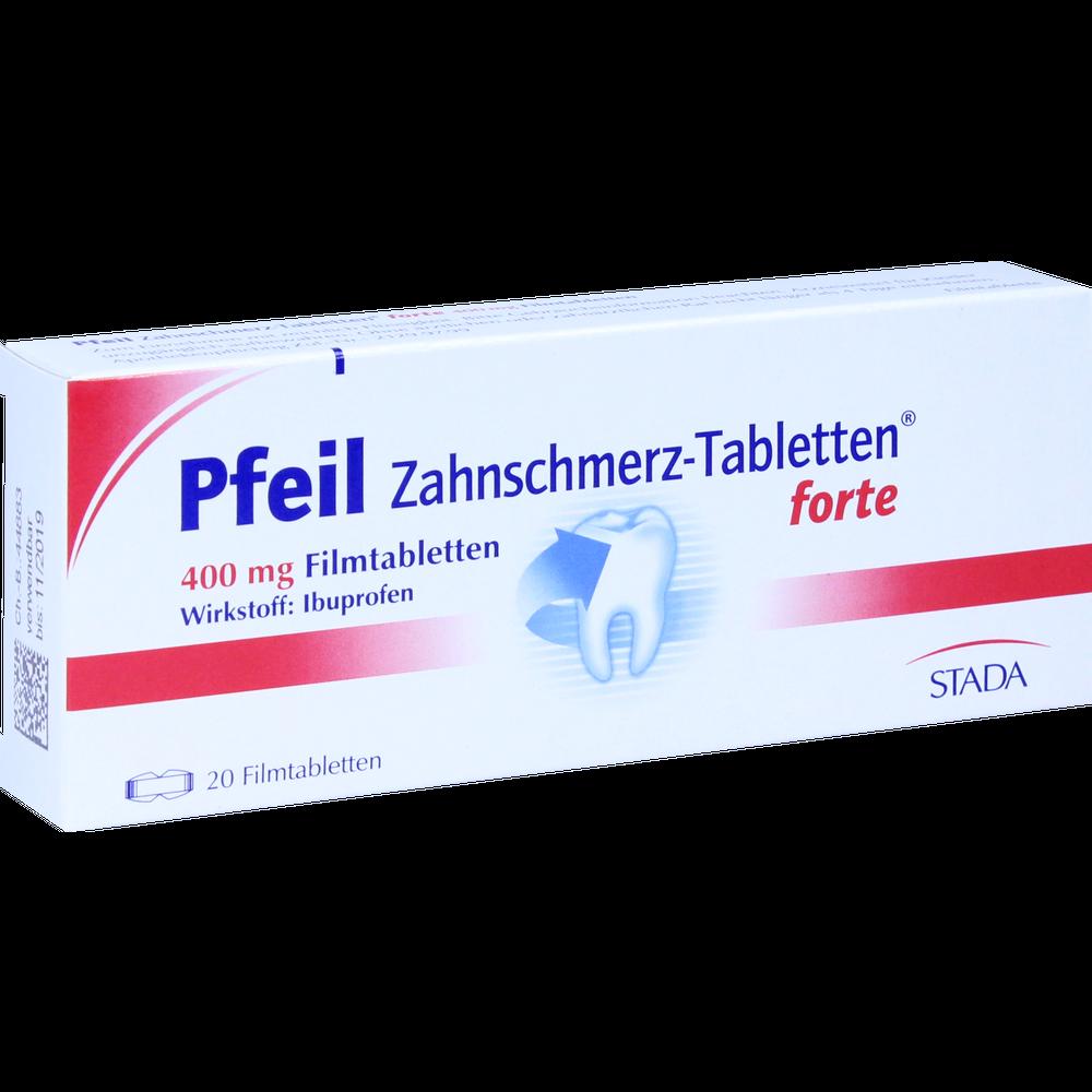 Pfeil Zahnschmerz-Tabletten