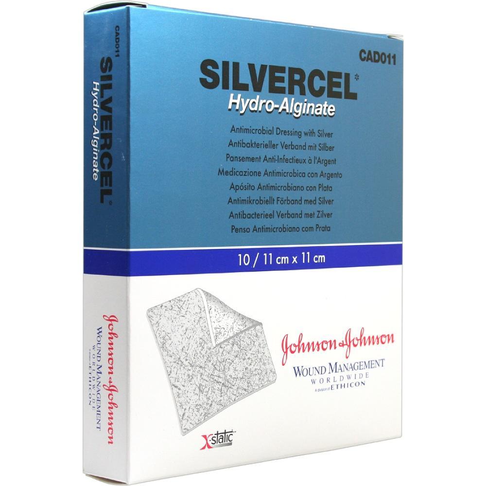 Silvercel Hydroalginat Verband 11x11 cm 10 St