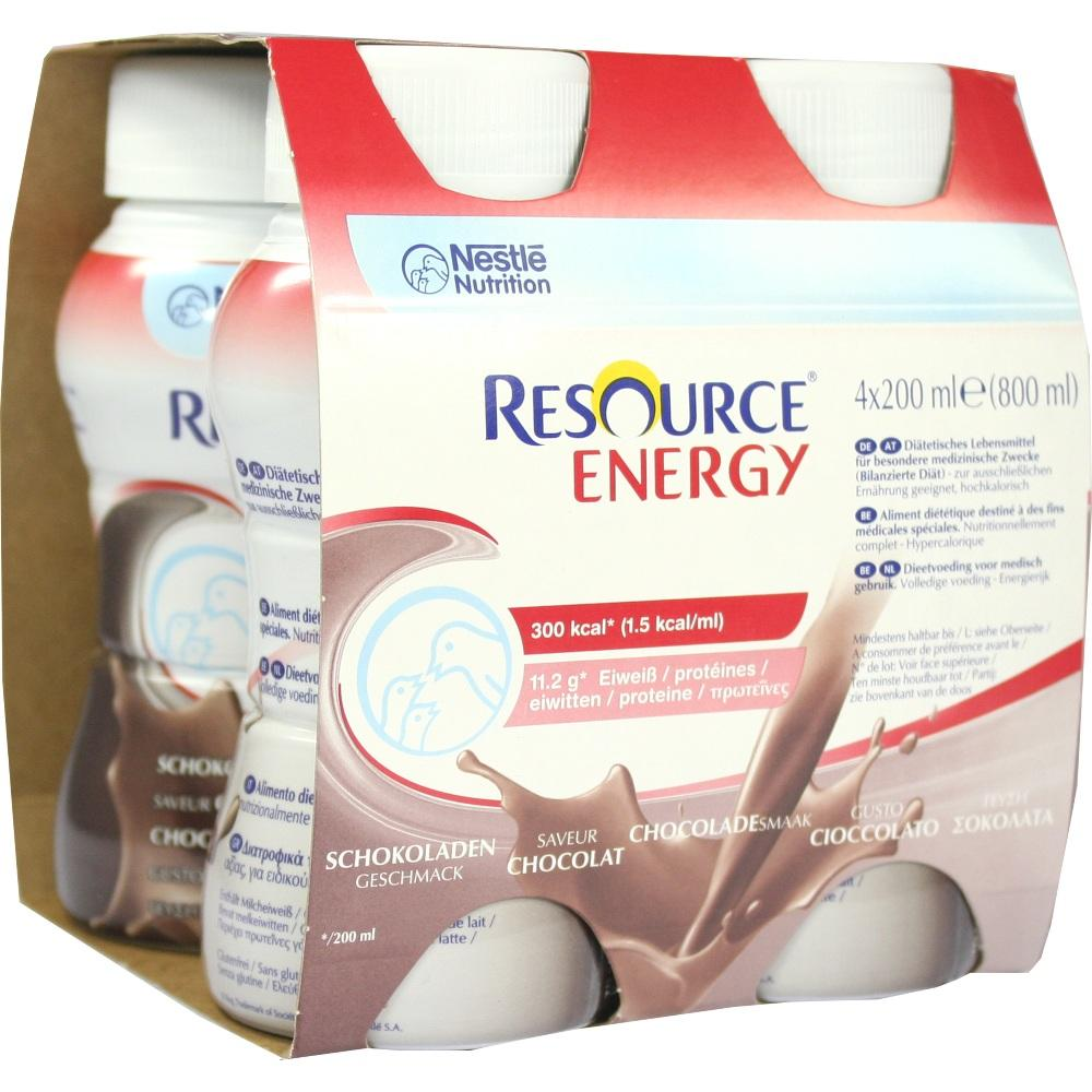 Resource Energy Schokolade 4X200 ml
