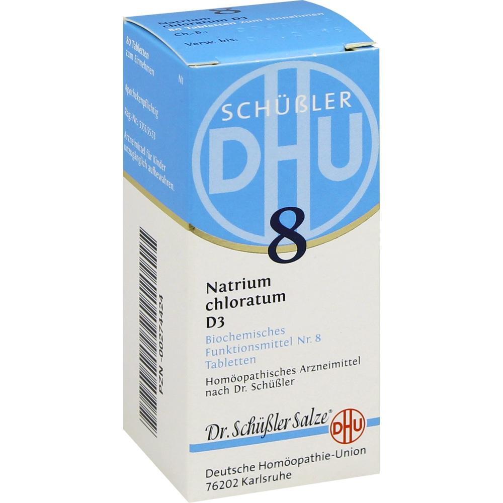 Biochemie Dhu 8 Natrium chloratum D 3 Tabletten 80 St