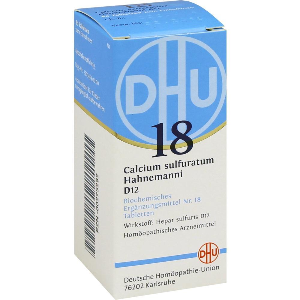 Biochemie Dhu 18 Calcium sulfuratum D 12 Tabletten 80 St