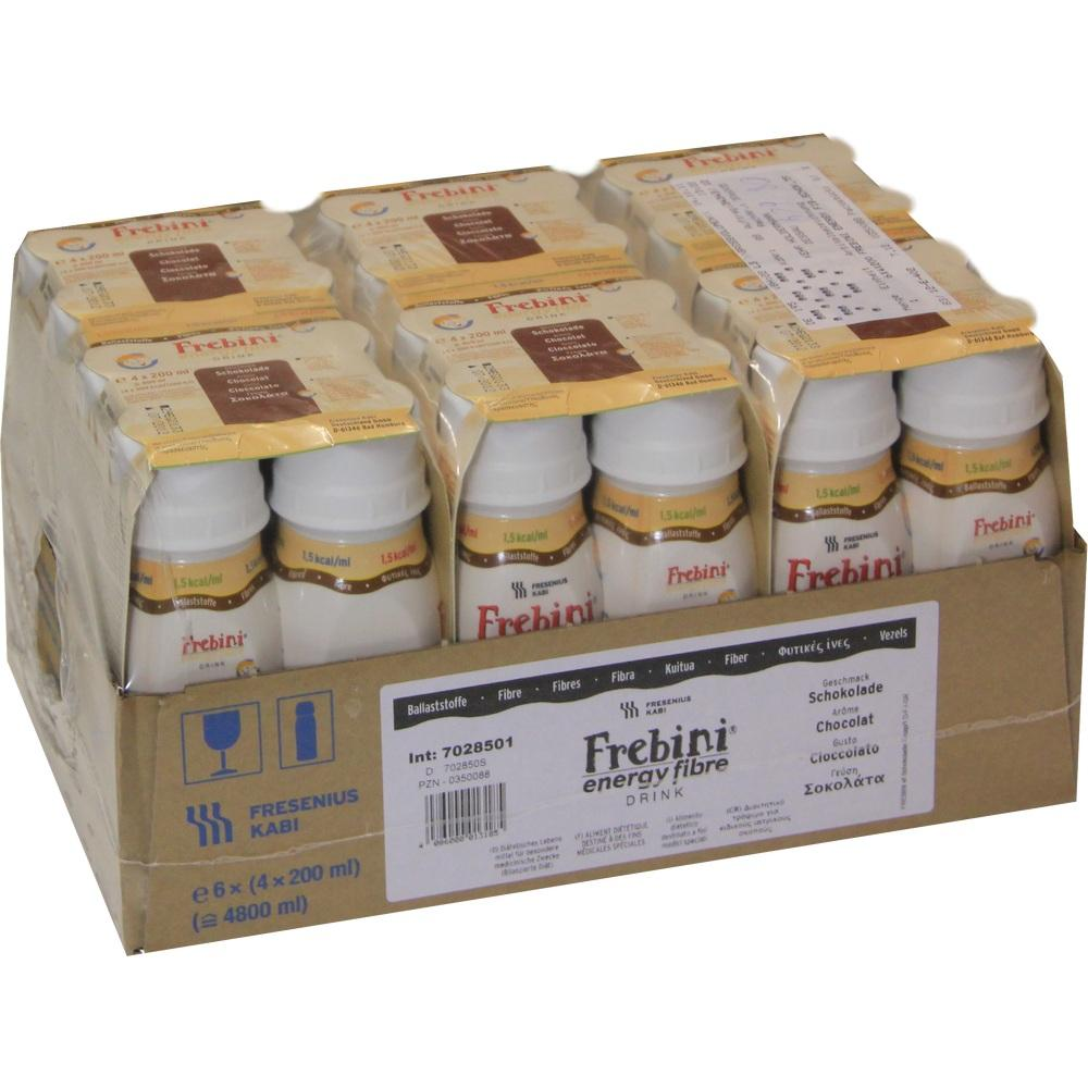Frebini Energy Fibre Drink Schokolade Trinkfl. 6X4X200 ml