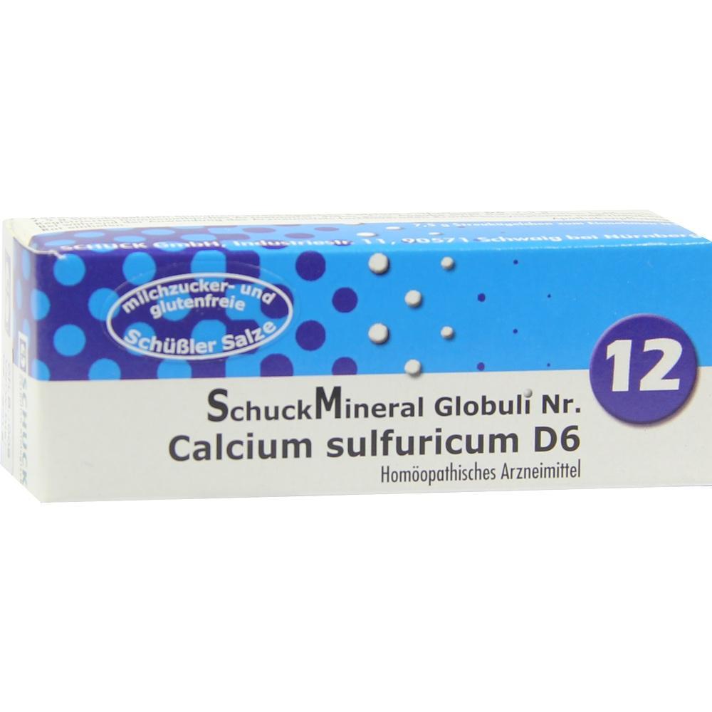 Schuckmineral Globuli 12 Calcium sulfuricum D6 7.5 g