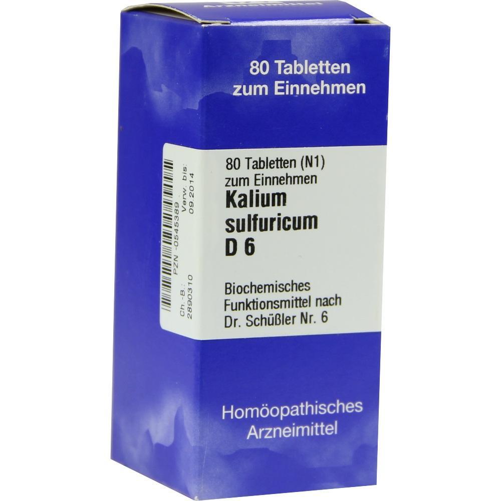 Biochemie 6 Kalium sulfuricum D 6 Tabletten 80 St