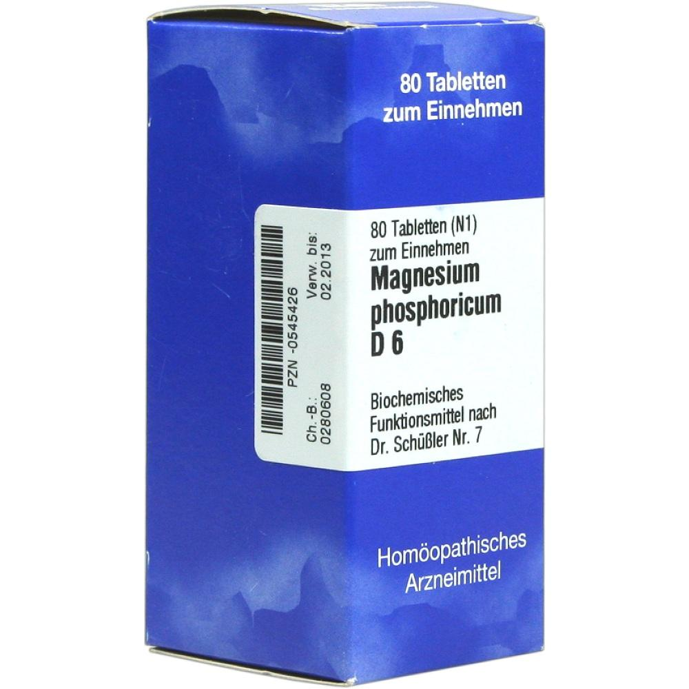 Biochemie 7 Magnesium phosphoricum D 6 Tabletten 80 St