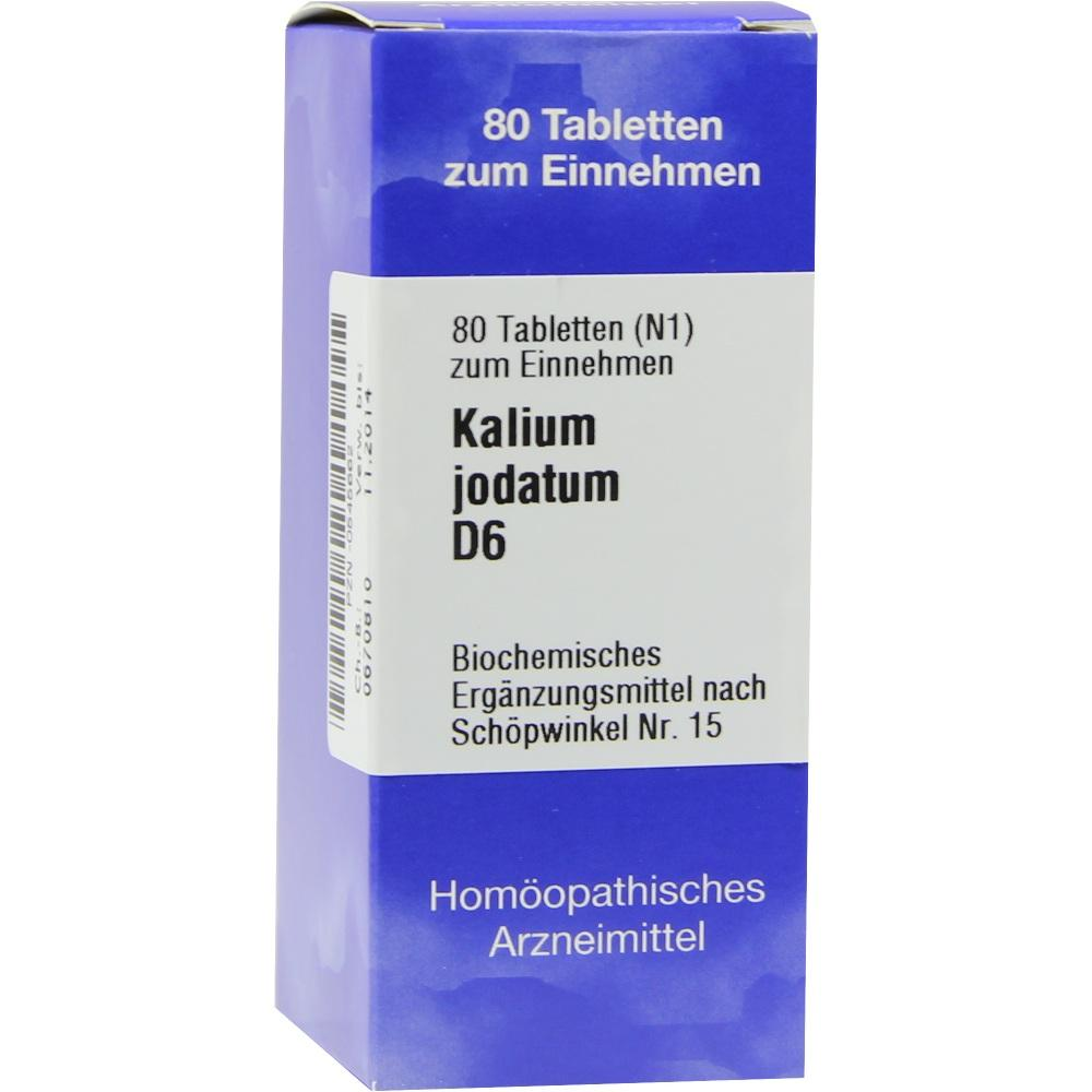 Biochemie 15 Kalium jodatum D 6 Tabletten 80 St