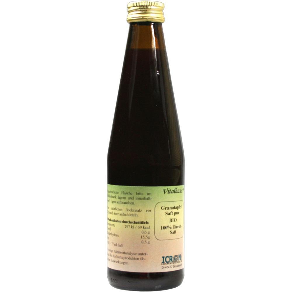 Granatapfel Saft pur Bio Vitalhaus 330 ml