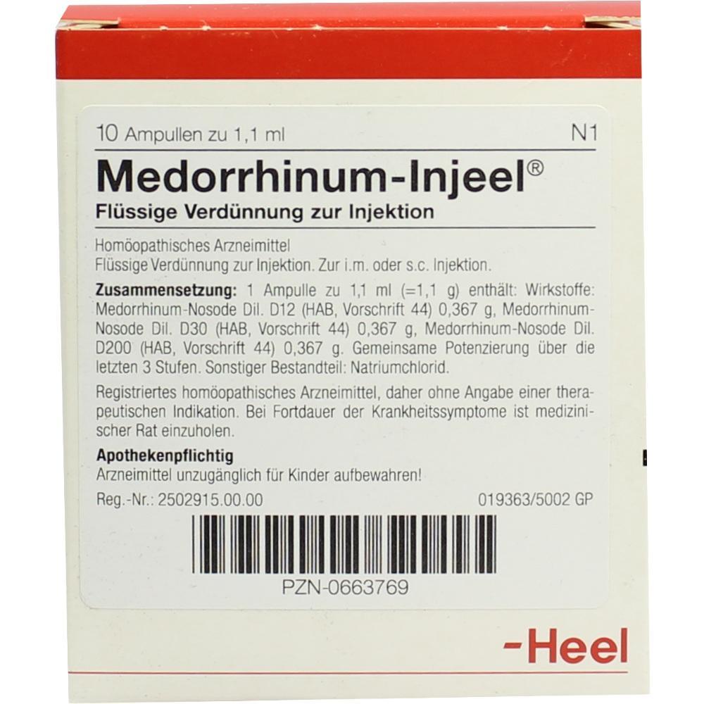 Medorrhinum Injeel Ampullen 10 St