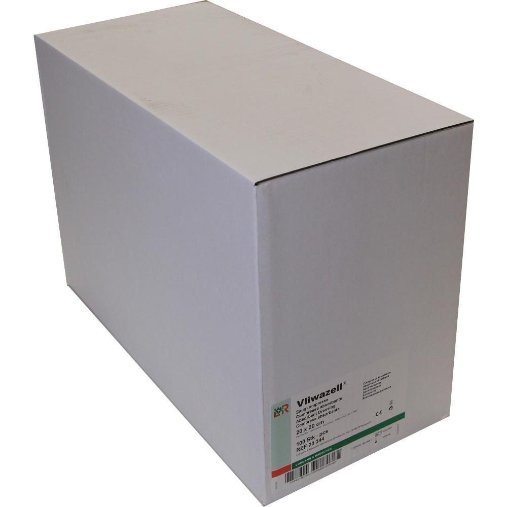 Vliwazell Saugkompressen 20x20 cm unsteril 100 St
