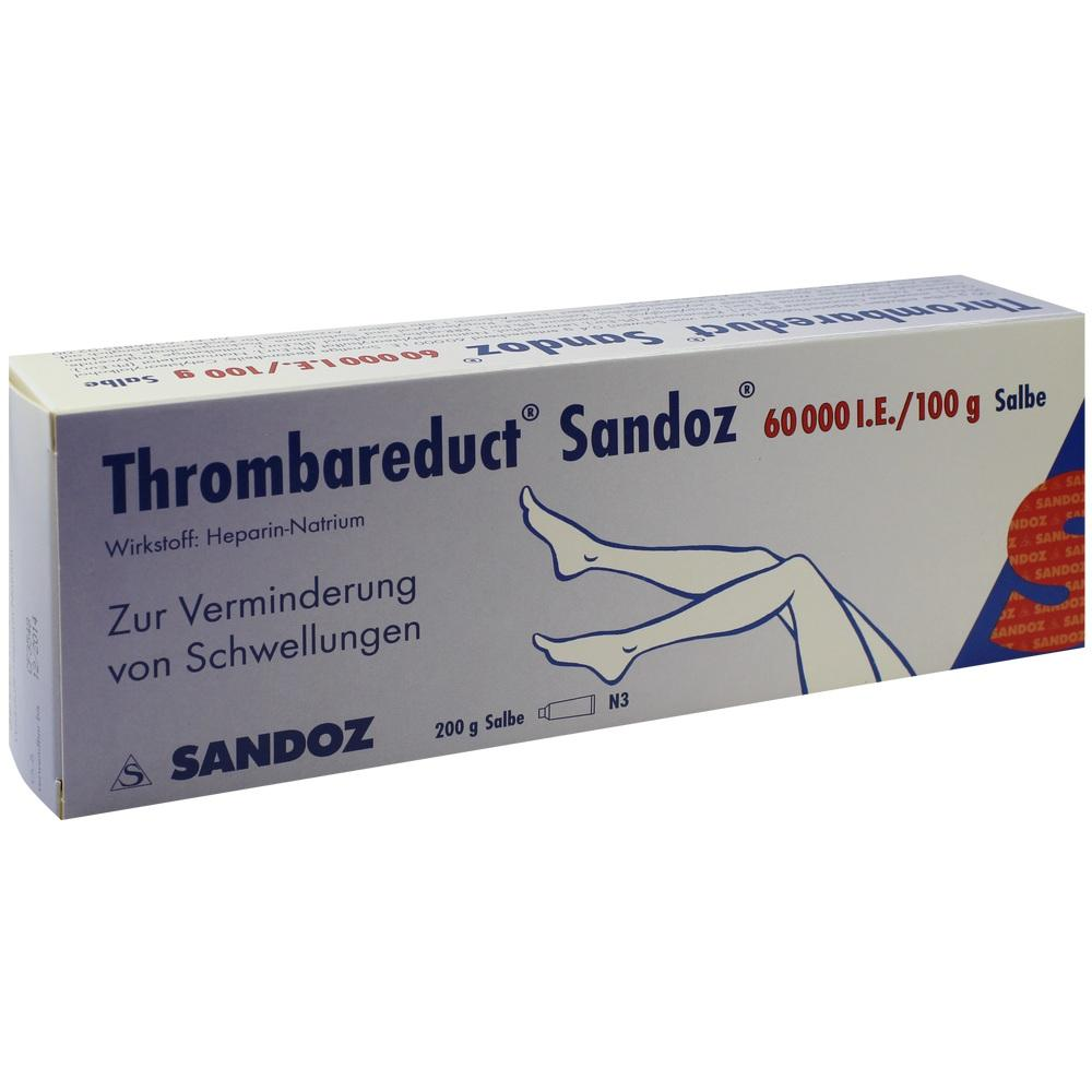 Thrombareduct Sandoz 60.000 I.E. Salbe 200 g