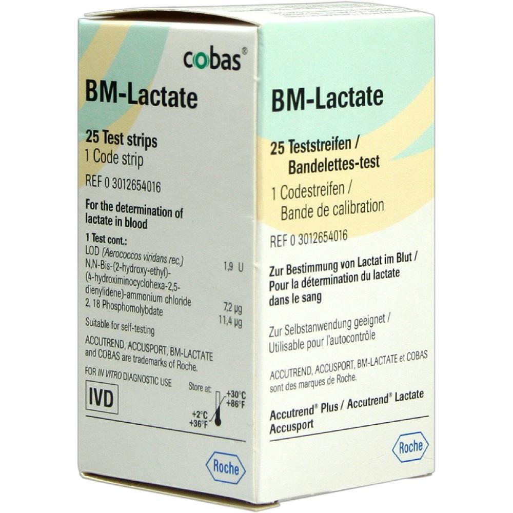Bm Test Lactate Teststreifen 25 St