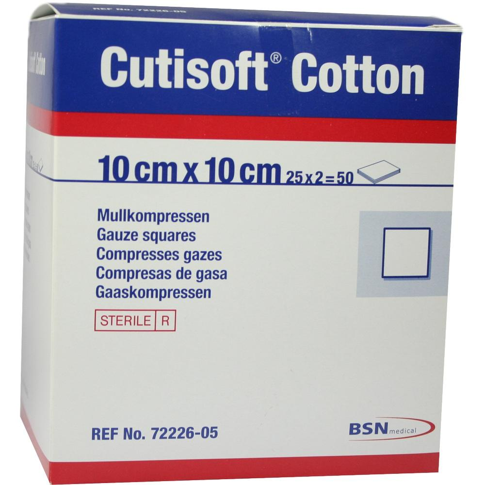 Cutisoft Cotton Kompr.10x10 cm steril 25X2 St