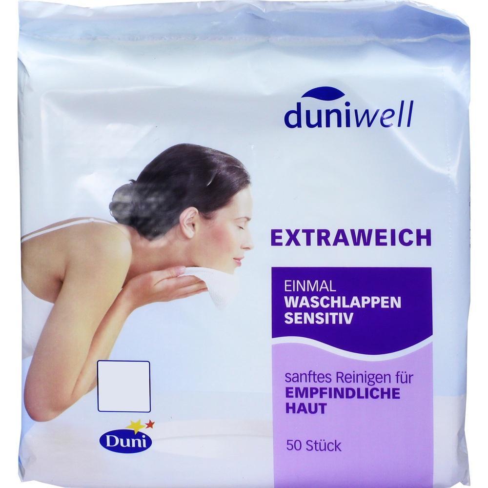 Duniwell Einmal Waschlappen sensitiv 50 St