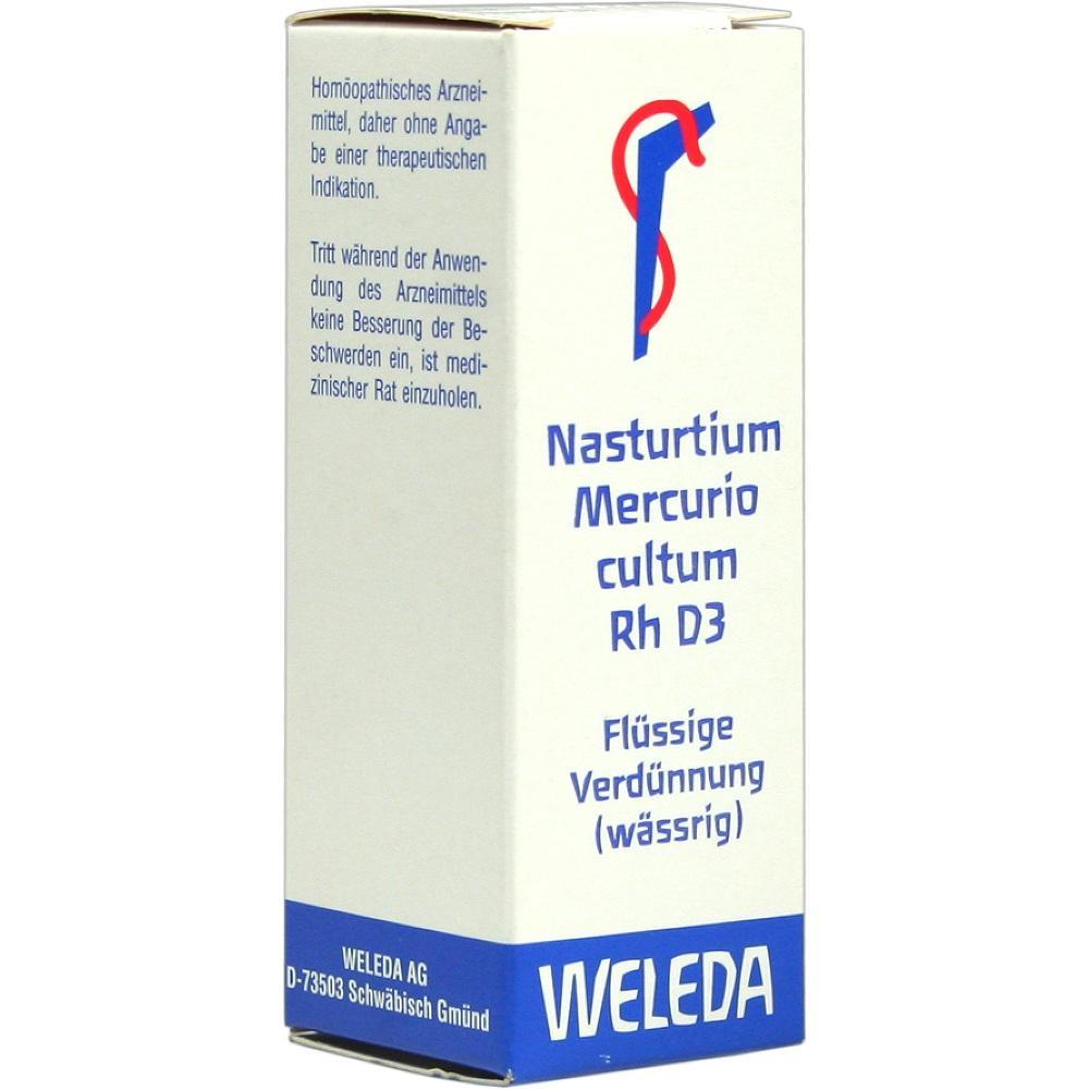 Nasturtium Mercurio cultum Rh D 3 Dilution 20 ml