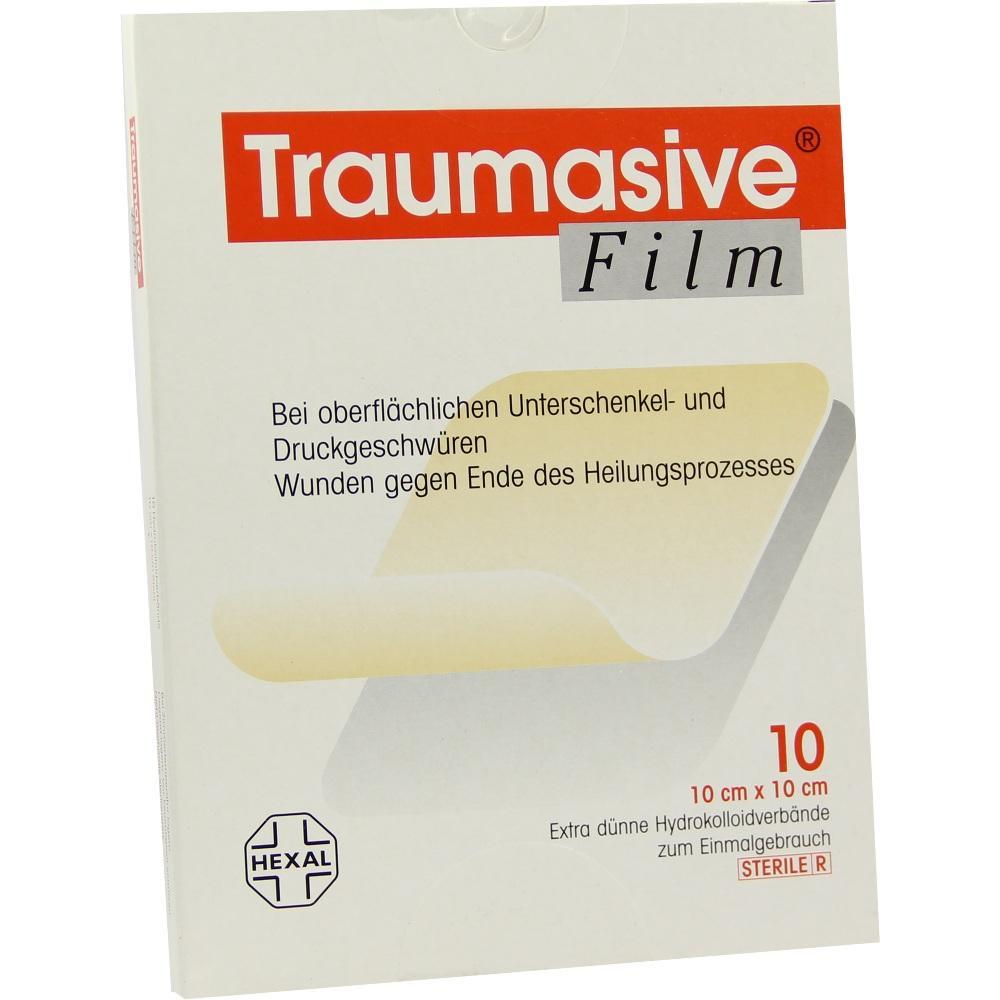 Traumasive Film 10x10cm Hydrokolloid-Verband 10 St