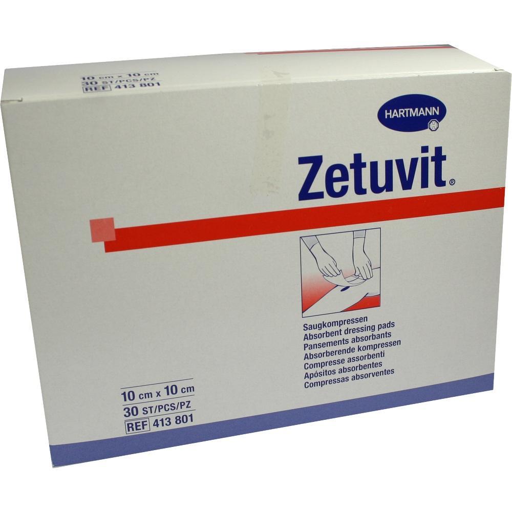 Zetuvit Saugkompressen unsteril 10x10 cm 30 St