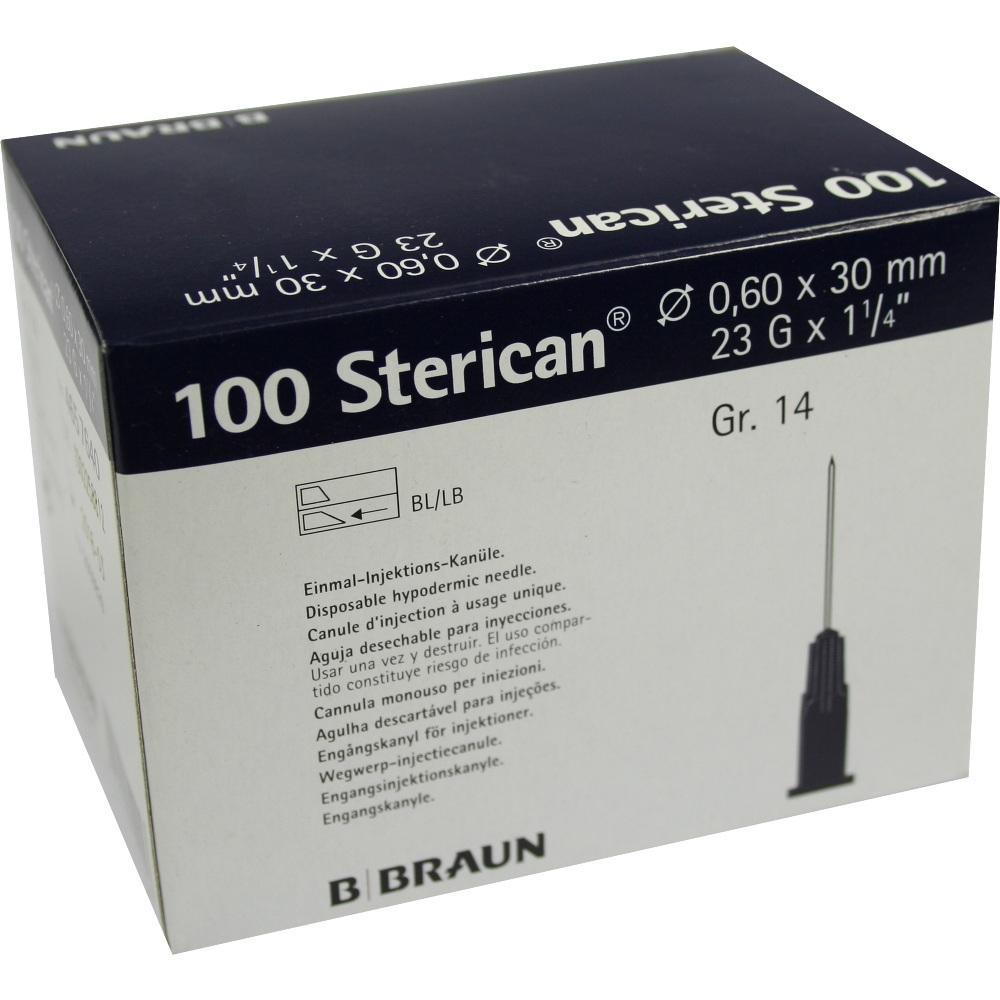 Sterican Kanülen Luer-Lok 0,60x30 mm Gr.14 blau 100 St