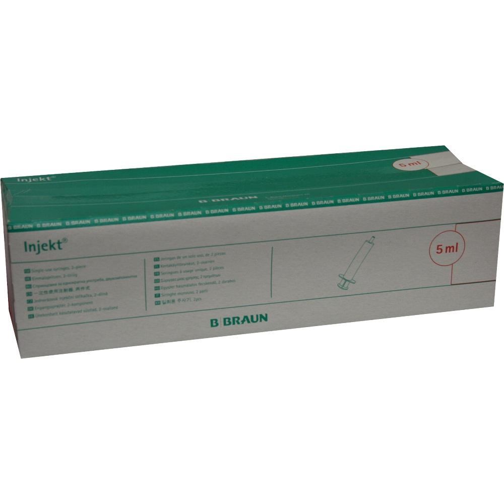 Injekt Solo Spritze 5 ml Luer exzentrisch Pvc-fr. 100X5 ml