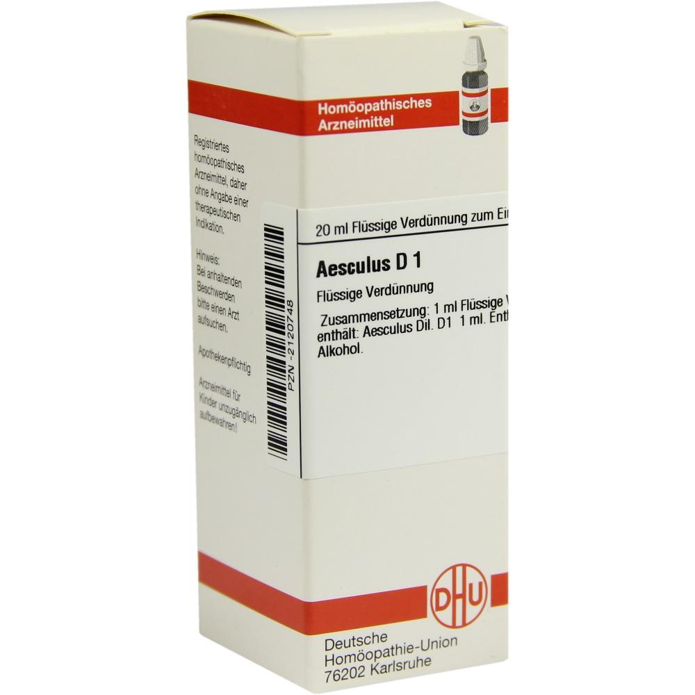 Aesculus D 1 Dilution 20 ml