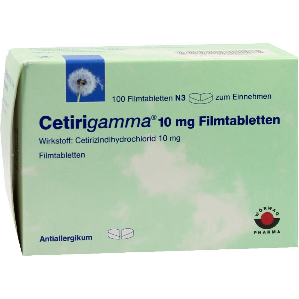 Cetirigamma 10 mg Filmtabletten 100 St