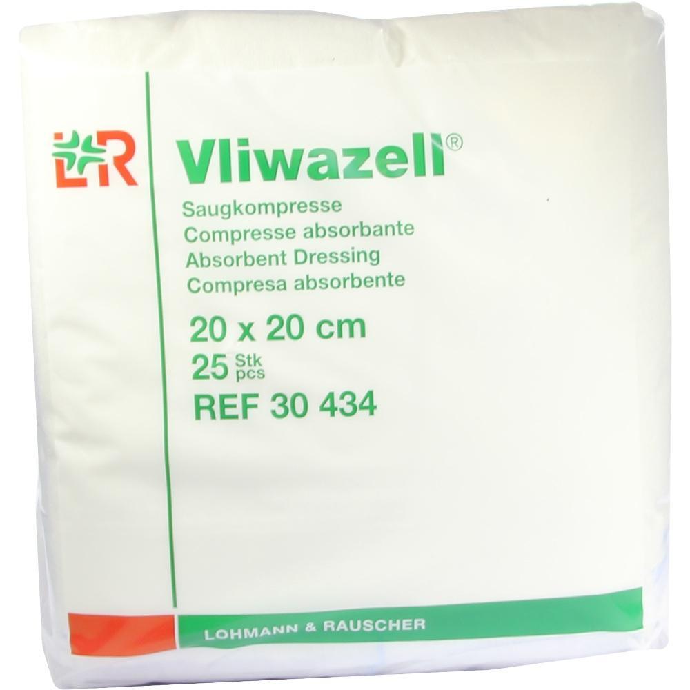 Vliwazell Saugkompressen 20x20 cm unsteril 25 St