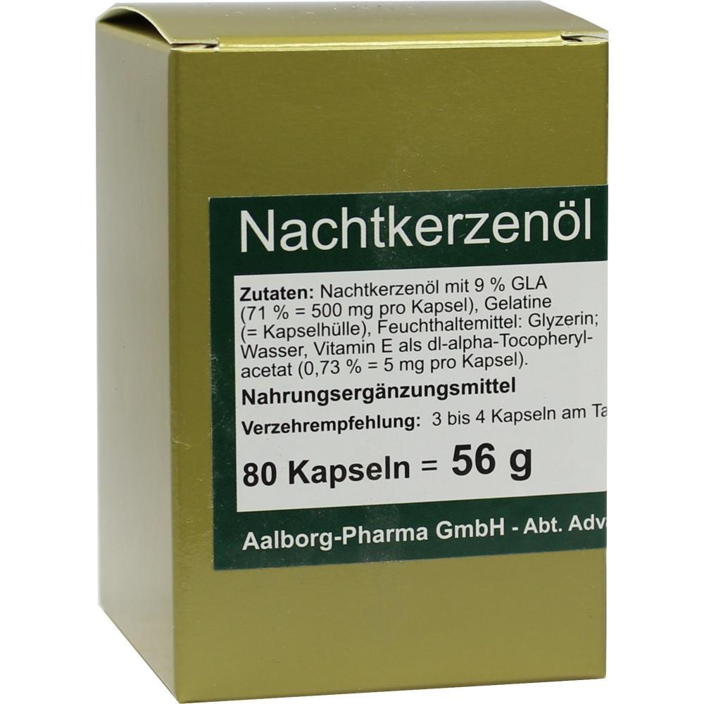 Nachtkerzenöl 500 mg pro Kapsel 80 St