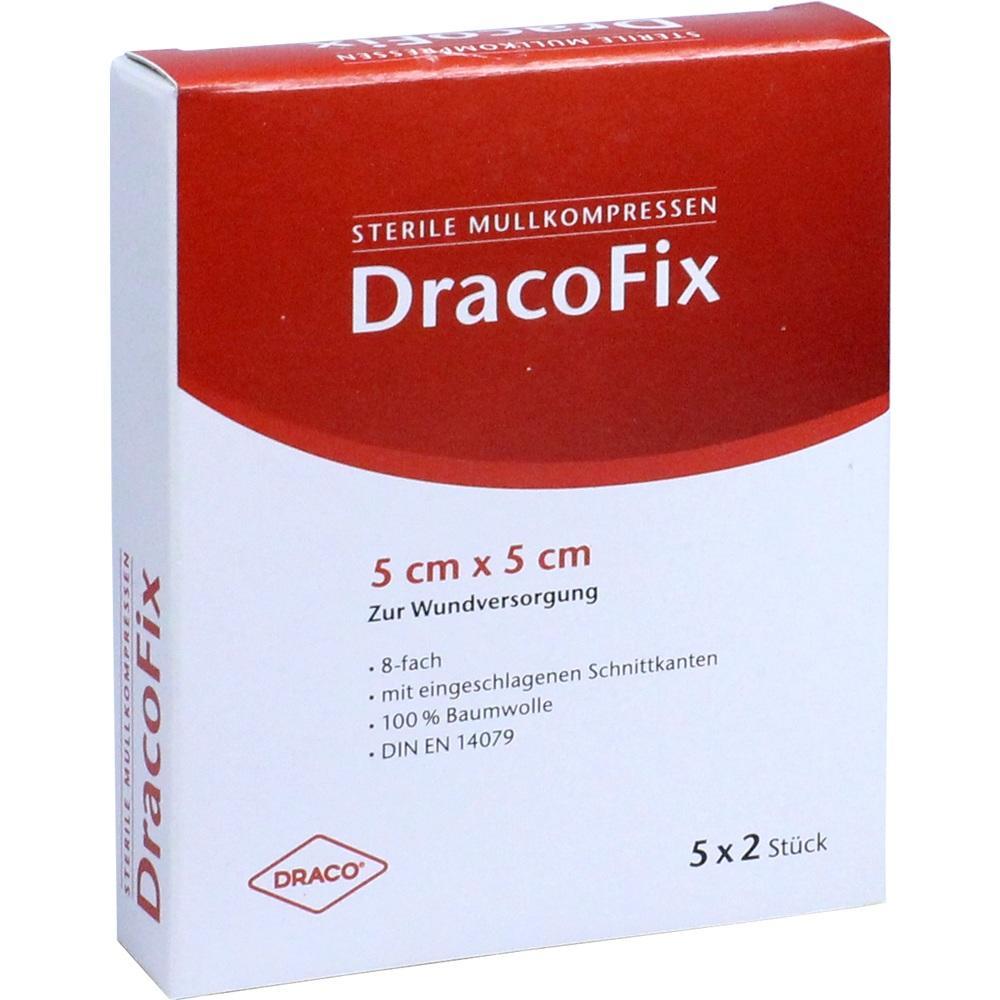 Dracofix Peel Kompressen 5x5 cm steril 8fach 5X2 St