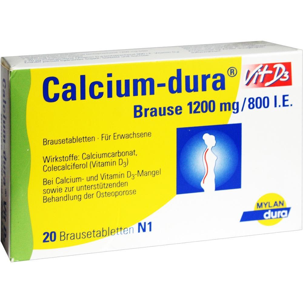 Calcium Dura Vit D3 Brause 1200 mg/800 I.E. 20 St