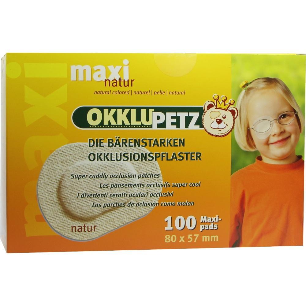 Okklupetz Okklusionspflaster maxi natur 100 St