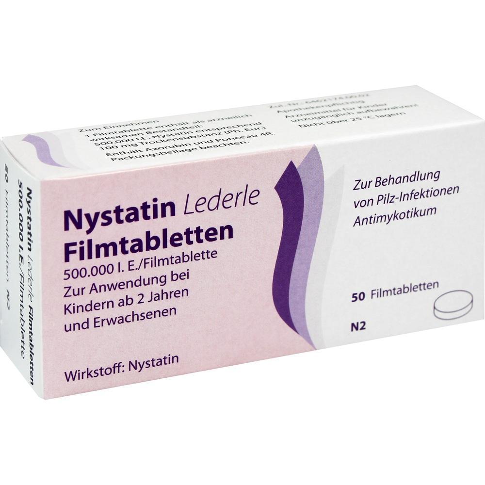 Nystatin Lederle Filmtabletten 50 St