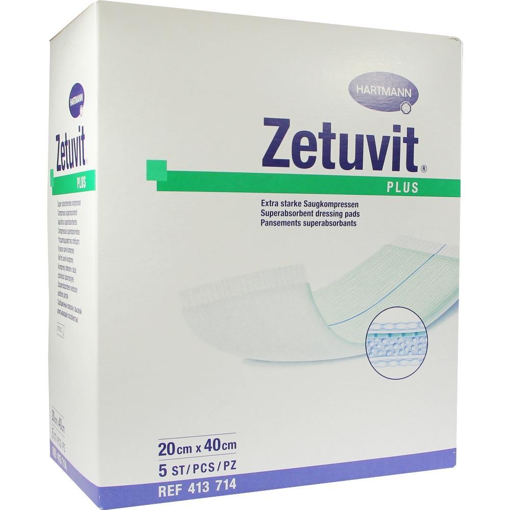 Zetuvit Plus extrastarke Saugkompr.steril 20x40 cm 5 St