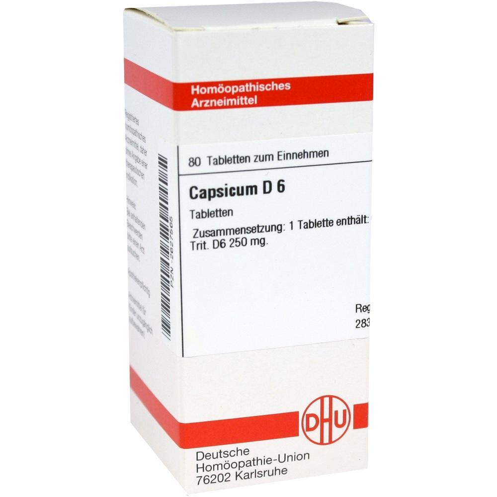 Capsicum D 6 Tabletten 80 St