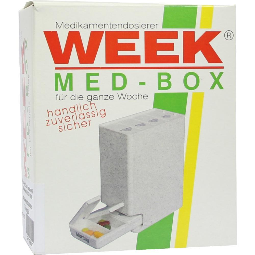 Medikamentendispenser 7 Tage grün 1 St
