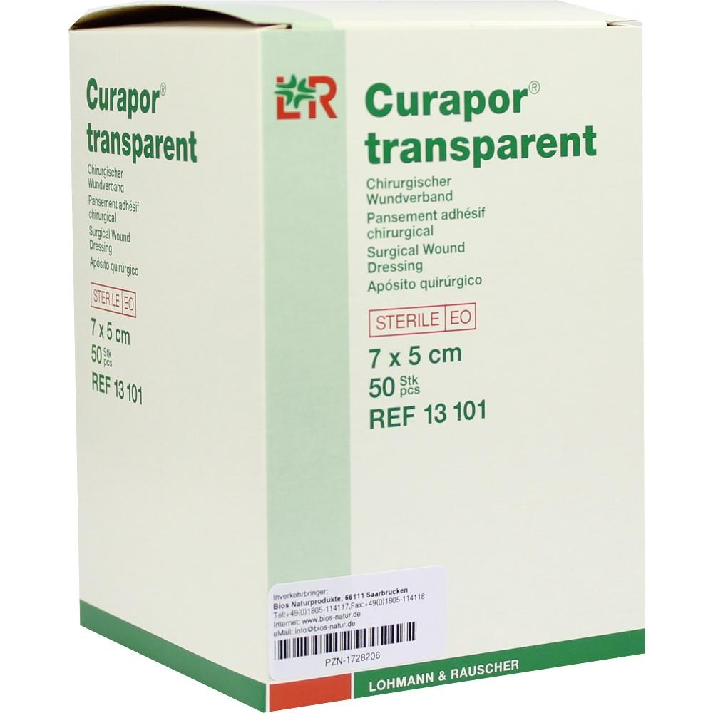 Curapor Wundverband steril transparent 5x7 cm 50 St