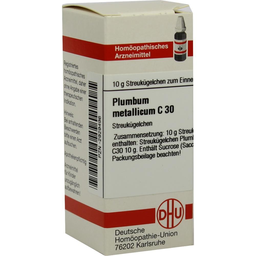 Plumbum Metallicum C 30 Globuli 10 g