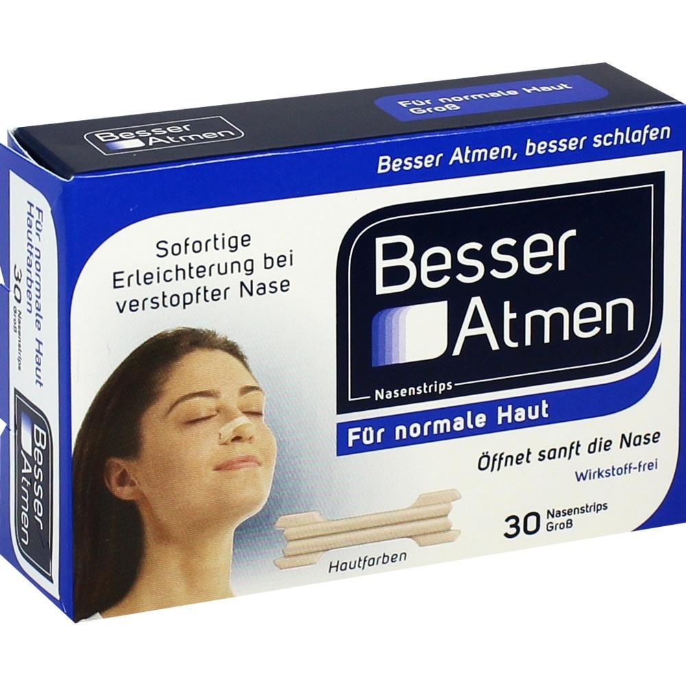 Besser Atmen Nasenstrips beige groß 30 St