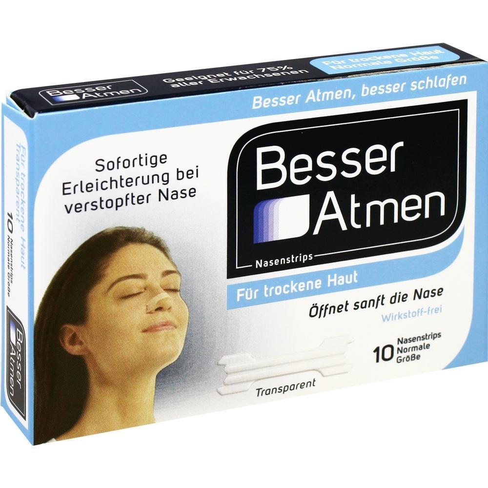 Besser Atmen Nasenstrips transp.normale Größe 10 St