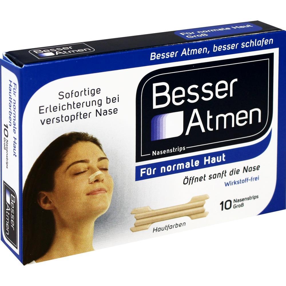 Besser Atmen Nasenstrips beige groß 10 St