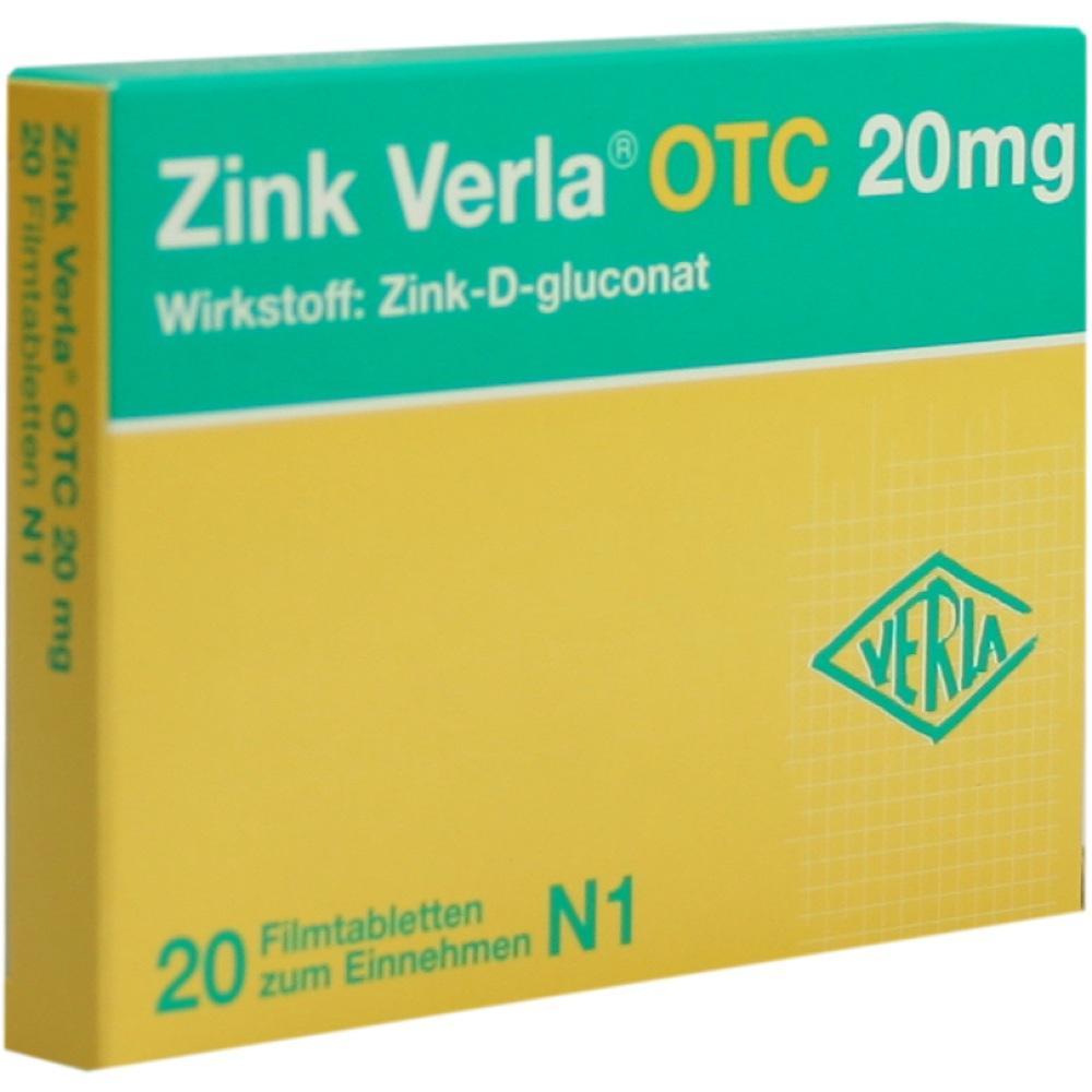 Zink Verla Otc 20 mg Filmtabletten 20 St