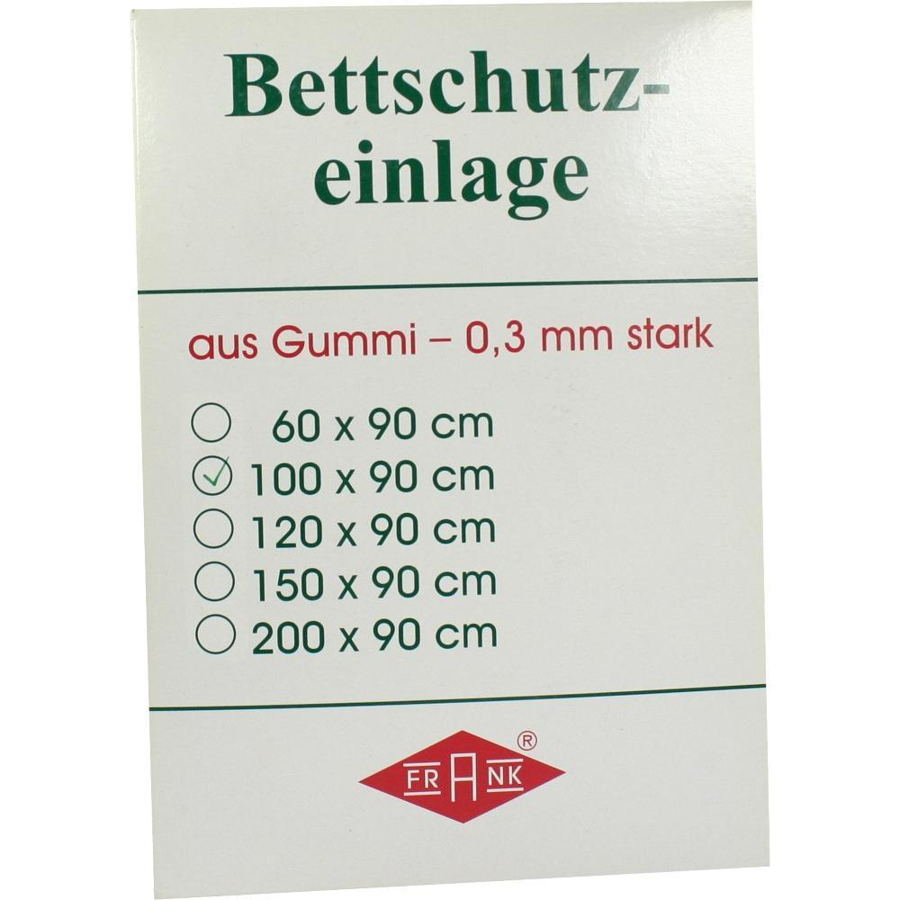 Betteinlage Gummiplatte 0,3 mm 90x100 cm weiß 1 St