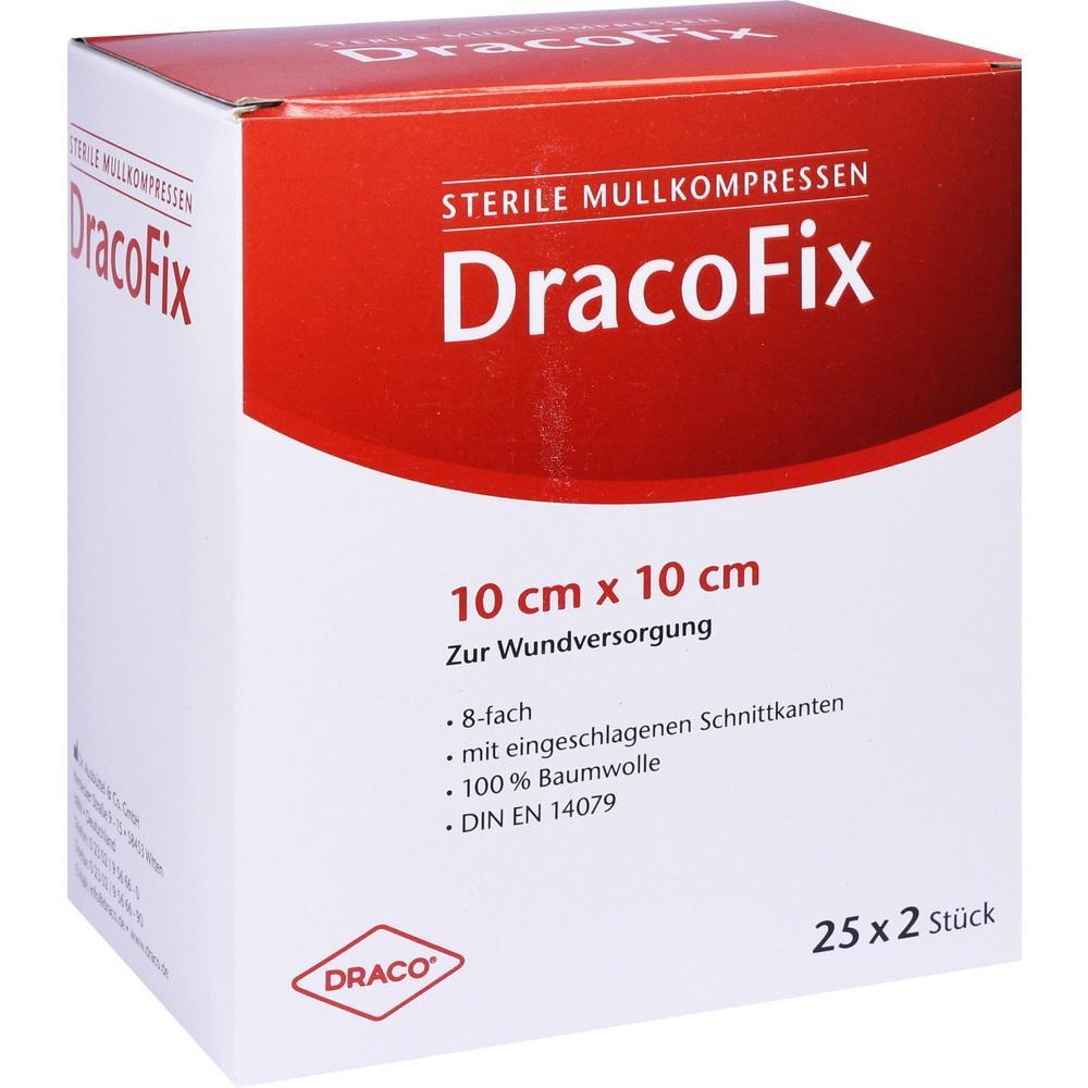 Dracofix Peel Kompressen 10x10 cm steril 8fach 25X2 St