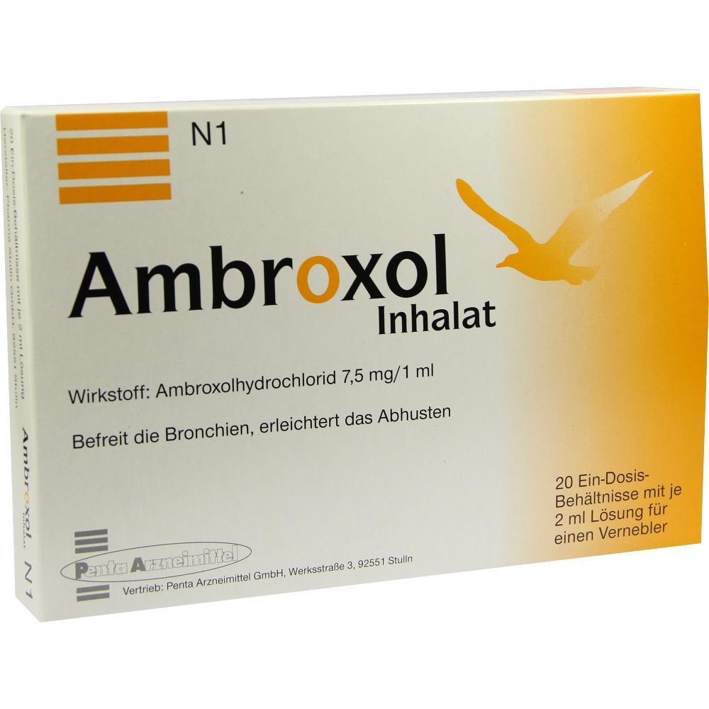 Ambroxol Inhalat Lösung für einen Vernebler 20X2 ml