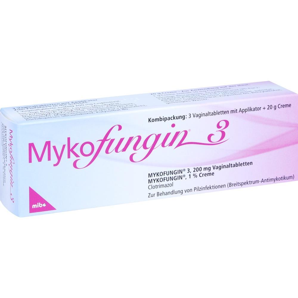 Mykofungin 3 Kombip. 3 Tabl.+20 g Creme 1 St
