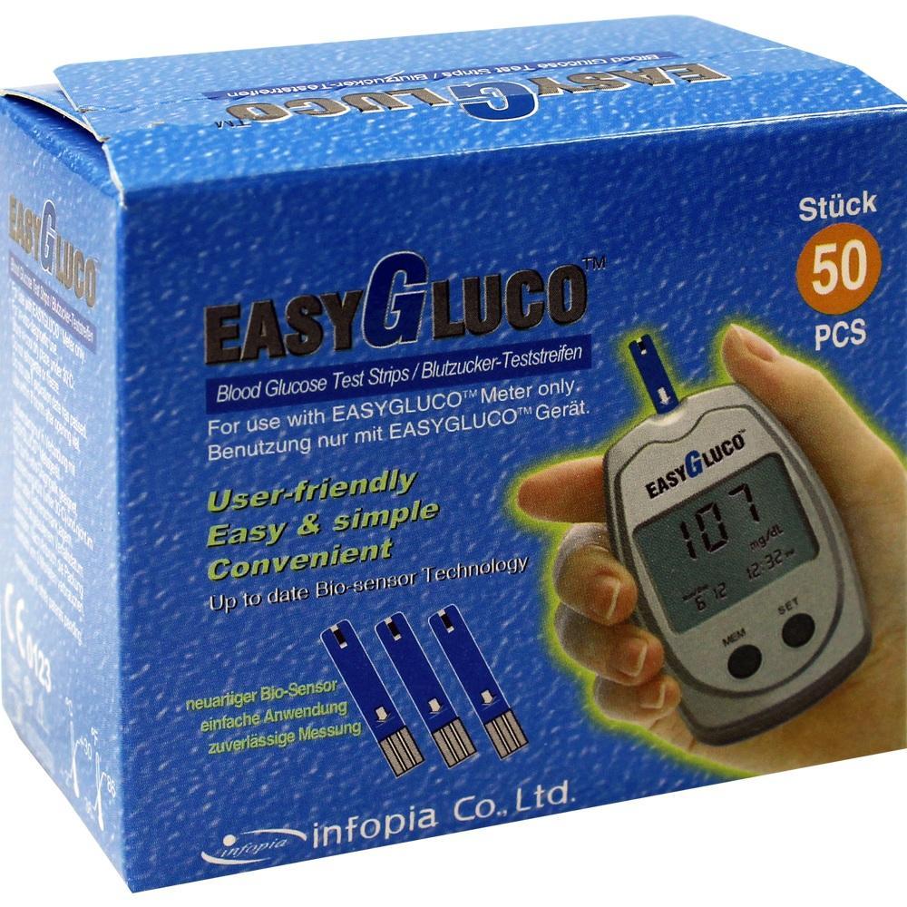 Easygluco Blutzucker Teststreifen 50 St