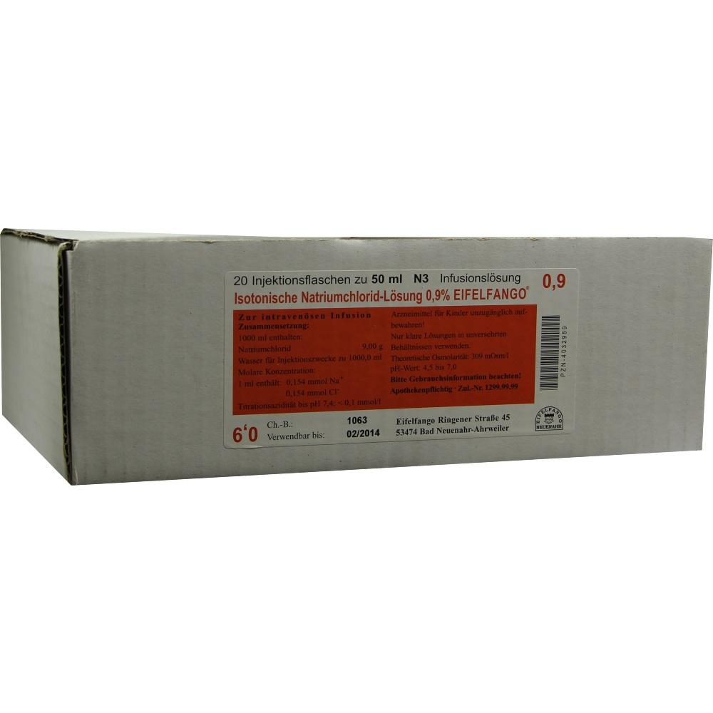 Isotonische NaCl Lösung 0,9% Eifelfango 20X50 ml