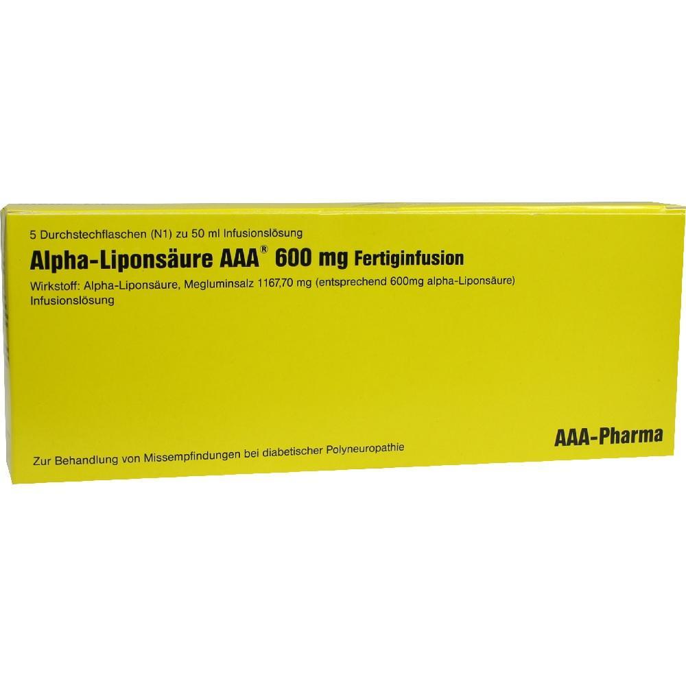 Alpha Liponsäure Aaa 600 mg Injektionsflaschen 5X50 ml