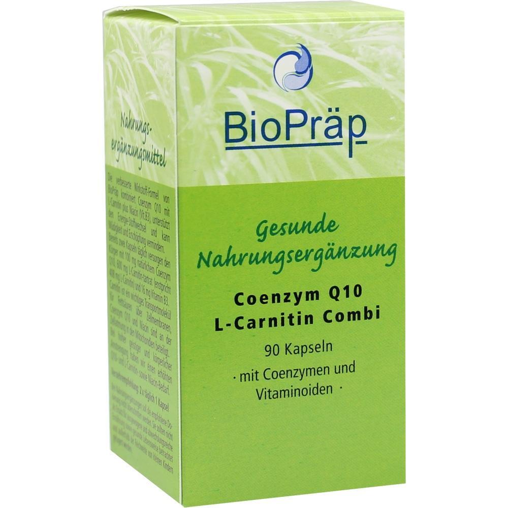 Coenzym Q10 L-Carnitin Combi 30 mg+180 mg Kapseln 90 St