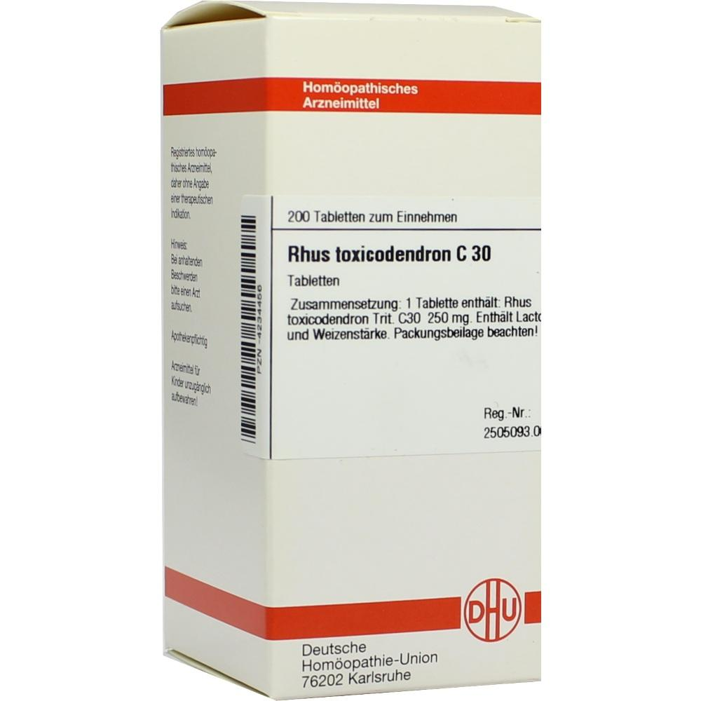 Rhus Toxicodendron C 30 Tabletten 200 St