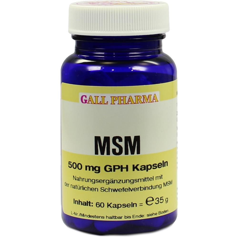 Msm 500 mg Gph Kapseln 60 St