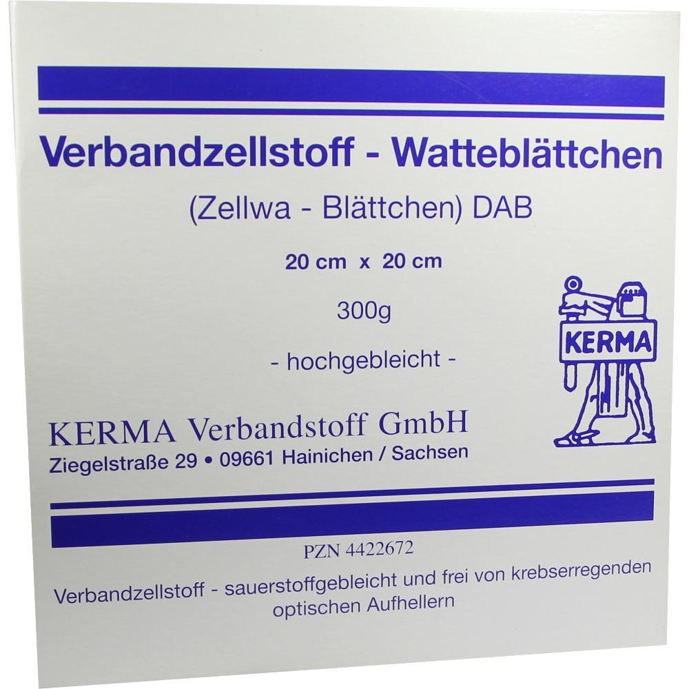 Verbandzellstoff Watteblättchen hochgebl.20x20 cm 300 g